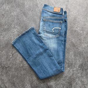 American Eagle kick boot jeans short